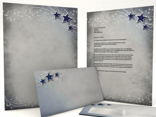 Weihnachtsbriefpapier Simply Stars