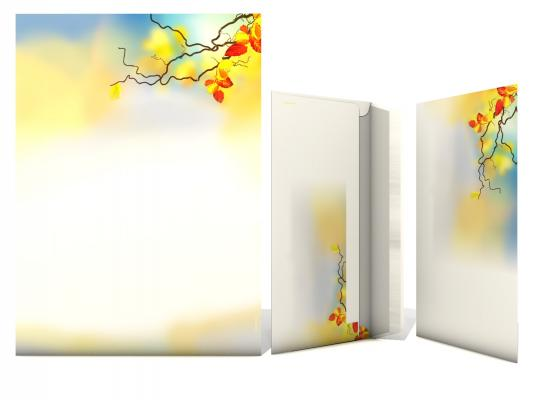Stationery-Set Autumn Leaves