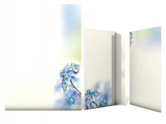 Stationery Forget-me-nots Flowers 2. Choice 100 Sheets