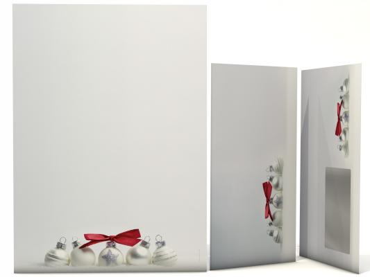 Christmas Stationery Pure SIlver