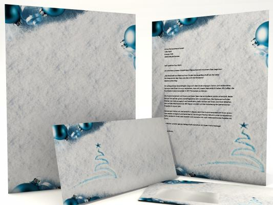 Christmas Stationery Snow Traces