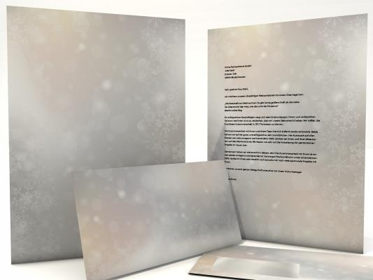 Christmas Stationery Dancing Snowflakes