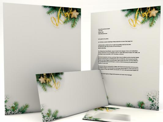 Christmas Stationery Fir Branches