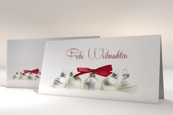 Imprintable Christmas Cards Pure Silver