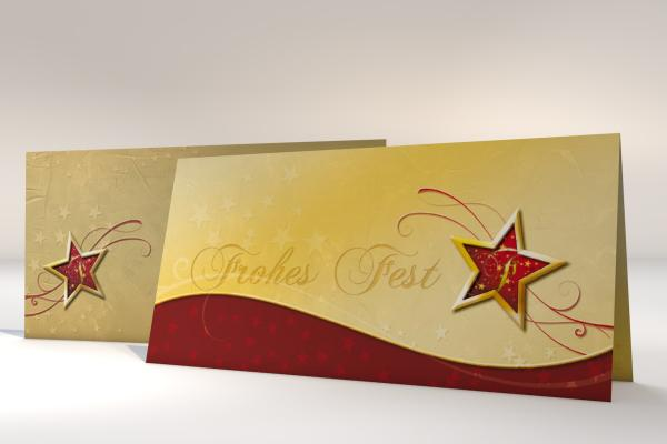 Imprintable Christmas Cards Red Star