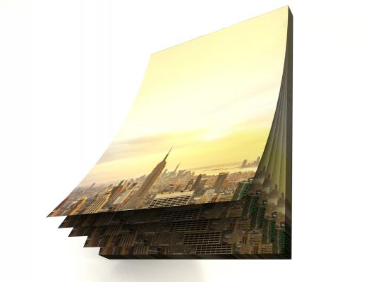 Motivpapierblock New York Skyline,  DIN A5,  2. Wahl